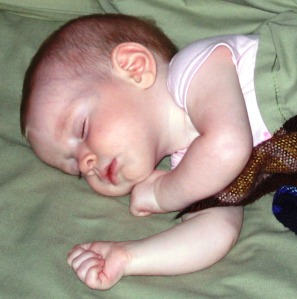 Quietly meditating on the innocence and pure life of a sleeping infant gives one newfound respect for the gift of life.